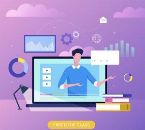 virtual classroom - virtual learning teacher - online instructor